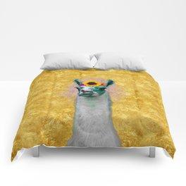 Flower Power Llama Comforters