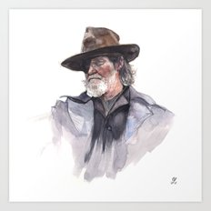 Jeff Bridges (Rooster Cogburn) Art Print