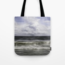 Rain on the Sea Tote Bag