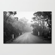 Mount Wellington Misty Road Canvas Print