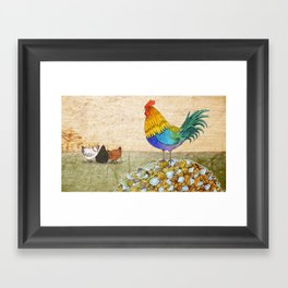 The Cockerel and The Jewel Framed Art Print