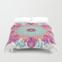 om Duvet Covers featuring Om by zakumy