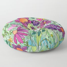 Purple Plum Parfait Floor Pillow