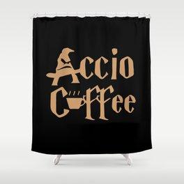 Accio Coffee Shower Curtain