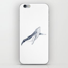 Baby humpback whale for children kid baby iPhone Skin