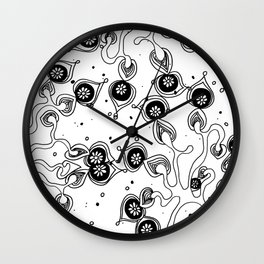 Tree in Bloom All over Pattern Wall Clock