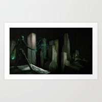 gaming Art Prints featuring Virtual Gaming by Adam Howie