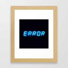 ERRORTRUTH Framed Art Print