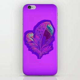 Lee's Purple Feather iPhone Skin