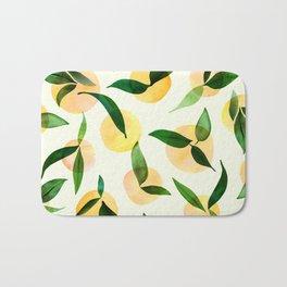 Sunny Lemon Print ~ Yellow and Green Bath Mat