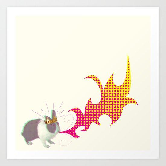 Rabbit King Art Print