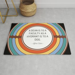 A dean is to a faculty as a hydrant is to a dog Rug