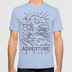 Time For Adventure Mens Fitted Tee MEDIUM Tri-Blue