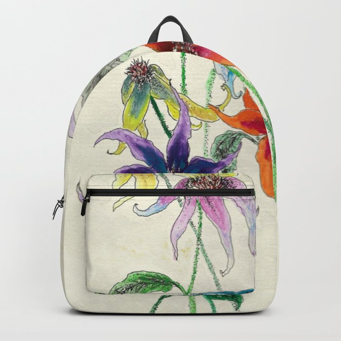 Rainbow Flower Bouquet Backpack by metalchocolate | Society6