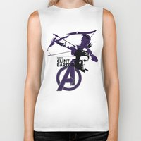 clint barton Biker Tanks featuring Clint by Mad42Sam