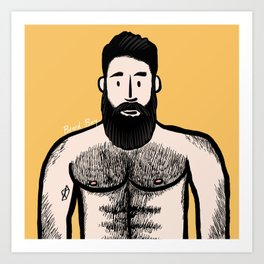 Beard Boy: Alejandro Art Print