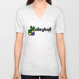 Volleyball Brazil Unisex V-Neck