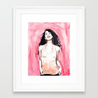 aaliyah Framed Art Prints featuring AALIYAH by jhighart