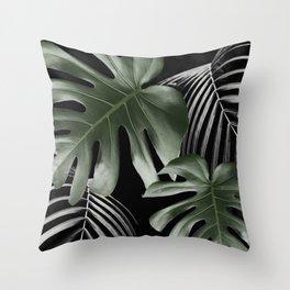 MONSTERA JUNGLE Throw Pillow