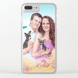 Commission portrait Clear iPhone Case
