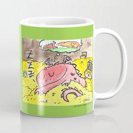 Sleeping Dragon (Watercolor and Pen) Coffee Mug