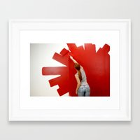 redhead Framed Art Prints featuring Redhead by Twilight Productions