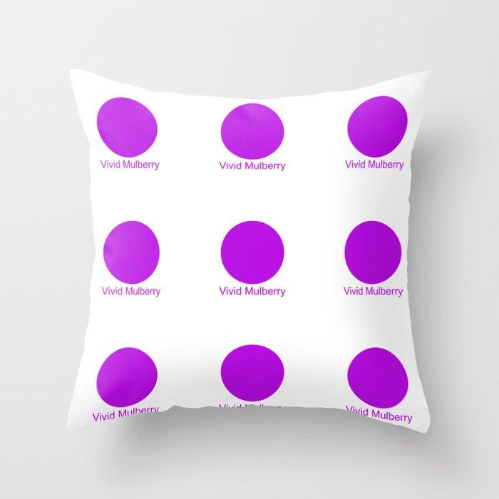Vivid Mulberry Throw Pillow