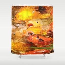TEXTURES: Koi Swarm Shower Curtain
