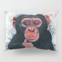 Chimpanzee Art Pillow Sham