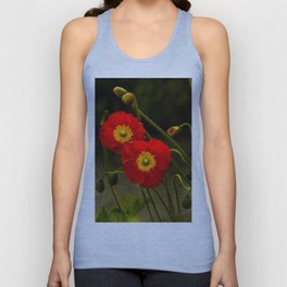 Yang Poppies Unisex Tank Top