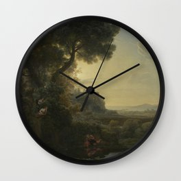 Landscape with Narcissus and Echo by Claude Wall Clock