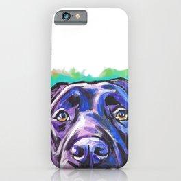 black Labrador Retriever Dog Pop Art by Lea iPhone Case