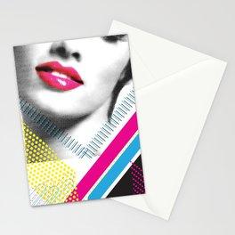 Pop Art Girl Stationery Cards