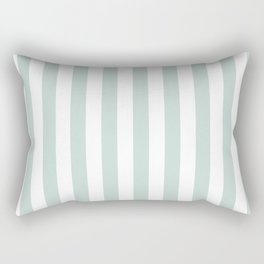 Sea Blue Green Simple Basic Striped Pattern Rectangular Pillow