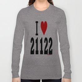 """Pasadena, Maryland """"I Heart 21122""""  Long Sleeve T-shirt"""
