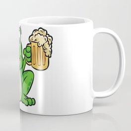 FROG DRINKING BEER Cartoon Comic Gift Present Coffee Mug