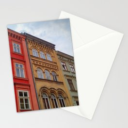 Krakow Beautiful Colorful Houses Stationery Cards