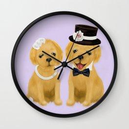 retriever couple Wall Clock