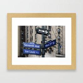 New York City Street Names Framed Art Print