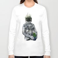 cacti Long Sleeve T-shirts featuring Cacti   Spaceman No:1 by FAMOUS WHEN DEAD