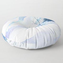 Winter scenery #2 Floor Pillow