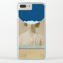 Blue Dot Clear iPhone Case