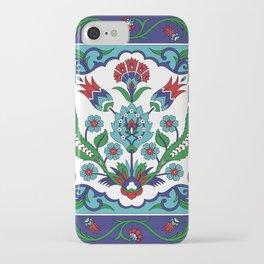 Turkish Tile Pattern – Vintage iznik ceramic with tulips iPhone Case