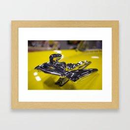 Yellow Nash Metropolitan Hood Ornament Framed Art Print