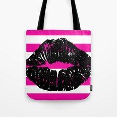 Magenta Lips Tote Bag