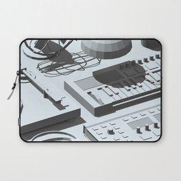 Low Poly Studio Objects 3D Illustration Grey Laptop Sleeve