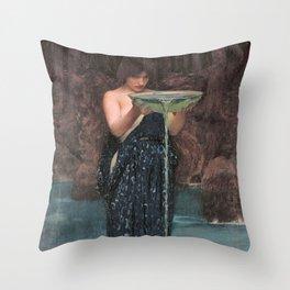 Circe Invidiosa - John William Waterhouse Throw Pillow