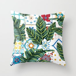 Plant a Garden In Which Strange Plants Grow & Mysteries Bloom #botanical Throw Pillow