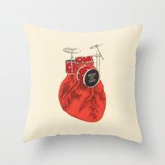 Beat of Life Throw Pillow