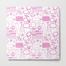 Birth Control Pattern Metal Print